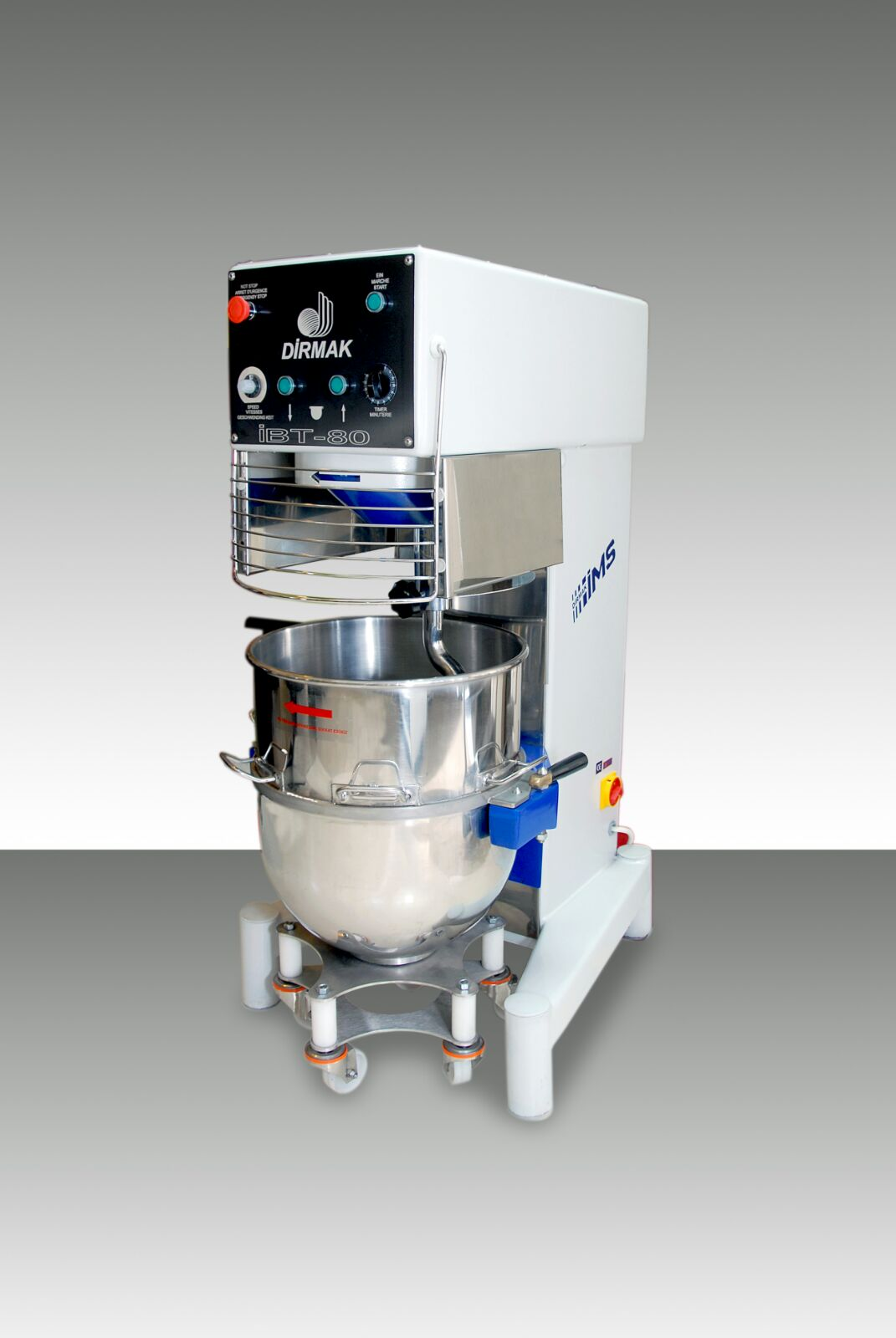 Withpowerful engine and 80 liter bowl, IBT 80 Seri